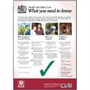 New 2014 Health & Safety Statutory Poster PVC W420xH595mm A2 Ref FWC80