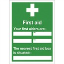 Safety Sign First Aid 600x450mm Self-Adhesive E91A/S