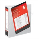 5 Star Presentation Ring Binder PVC 2 D-Ring 65mm Size A4 White [Pack 10]
