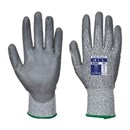Cut Level 3 PU Palm Glove Grey Small