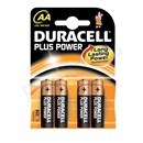 Duracell Plus Alkaline Batteries AA Size Pack 4 Code 15071649