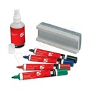 5 Star Drywipe Starter Kit of Drywipe Eraser and 100ml Cleaner and 4 Whiteboard Markers Assorted