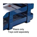 Rexel Agenda Classic Risers Self-locking for Letter Trays 53mm Blue Ref 25225 [Pack 5]