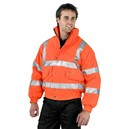 Hi Visibility Constructor Bomber Jacket, High Vis Orange - XL