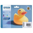 Epson T0556 Inkjet Cartridge Duck Black/Cyan/Magenta/Yellow Ref C13T05564010 [Pack 4]