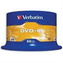Verbatim DVD-R Recordable Disk Write-once on Spindle 16x Speed 120min 4.7Gb Pack 50 Code 43548