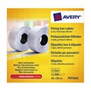 Avery Labels for Labelling Gun 2-Line Removable White 16x26mm 1200 per Roll Ref PLR1626 [Pack 10]
