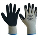 Multi-Purpose Latex Grip Glove Black / Grey Small