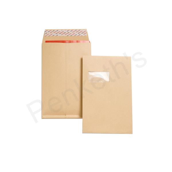 New Guardian Heavyweight Window Gusset C4 Envelope Manilla, Pack 100