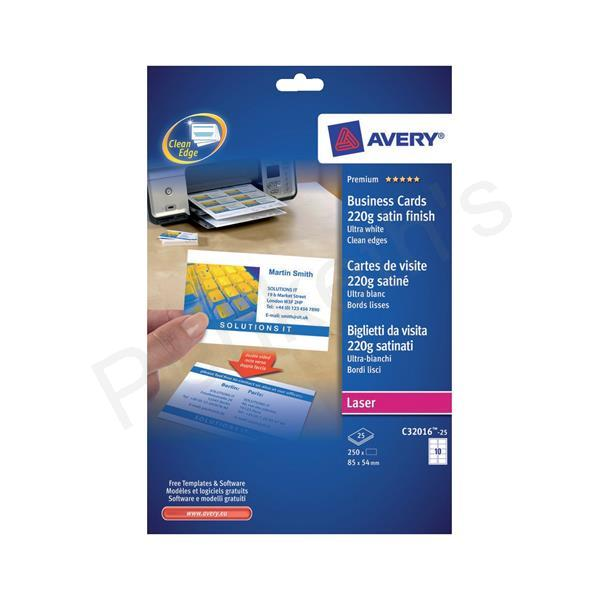 Avery Quick And Clean Business Cards Laser 220gsm 10 Per Sheet