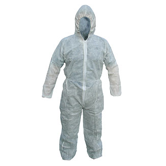 Disposable Polypropylene Boilersuit, White - S