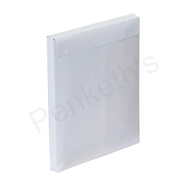 Plus Fabric Envelopes Peel and Seal Gusset 25mm 120gsm White 305x250mm [Pack 100]