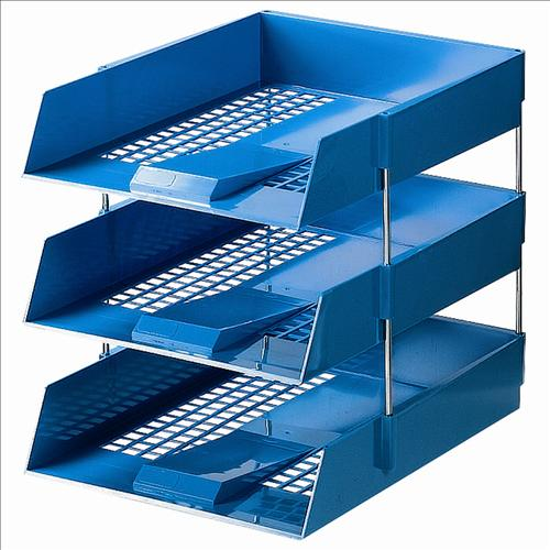 initiative blue plastic letter tray With plastic letter trays