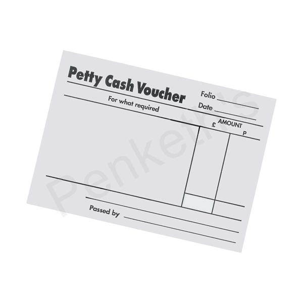 Q-Connect White Petty Cash Voucher Pad 125x101mm KF00103 Pack of 10