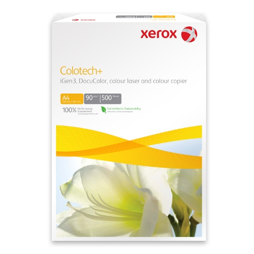 Xerox Colotech+ A4 White 100gsm Optimum Colour Paper, Pack 500