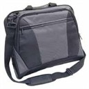 Monolith Nylon Laptop Messenger Bag Black and Grey 2400