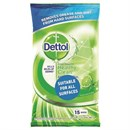 Dettol Antibac Lime & Mint Floor / Hard Surface XL Wipes 15's