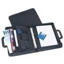 Monolith Drop Handle Leather Look Ring Binder Black 2791