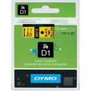 Dymo D1 Labelmaker Tape 7mx12mm Black on Yellow