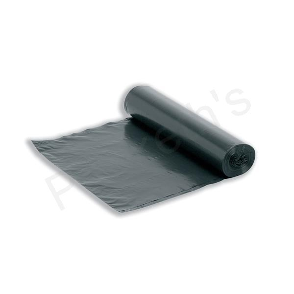 Bin Liners On The Roll 80 Gauge 95 Litre Capacity Black [Roll 20]