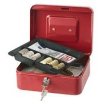 Q Connect Cash Box 8 inch Red Code KF04249